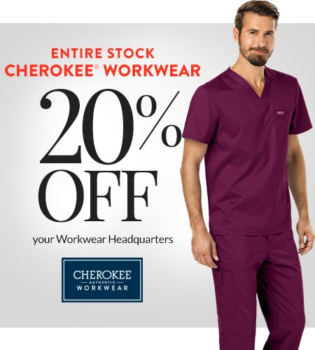 20% Off Cherokee Workwear!