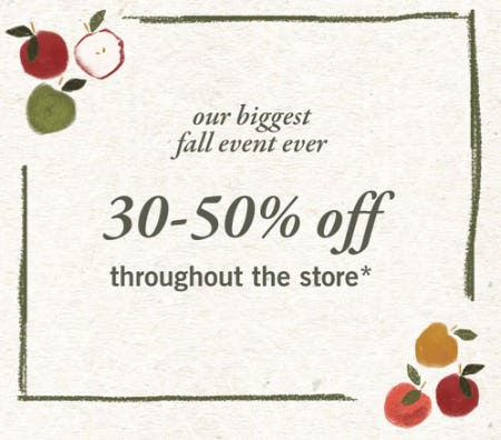 30-50% Off Throughout The Store from Abercrombie Kids