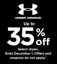 Up to 35% Off Under Armour