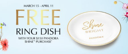 Free Ring Dish with Purchase from PANDORA