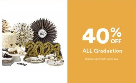 40% Off All Graduation from Michaels