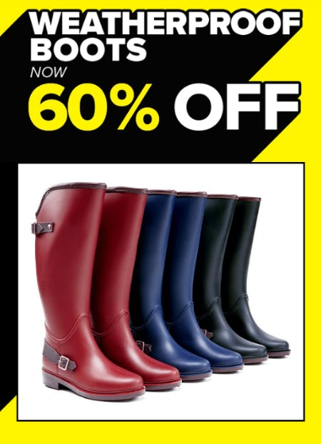 60% Off Weatherproof Boots from Rainbow