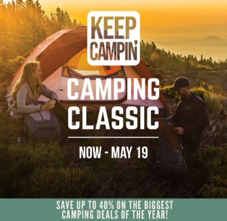 Save Up to 40% During the Camping Classic Sale from Cabela's