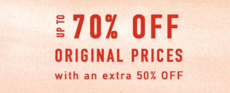 Up to 70% Off Original Prices from Anthropologie