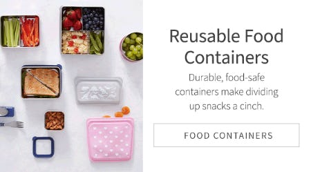 Reusable Food Containers from Pottery Barn Kids