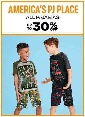 All Pajamas up to 30% Off from The Children's Place Gymboree