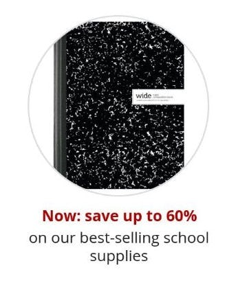 Up to 60% Off Our Best-Selling School Supplies from Office Depot