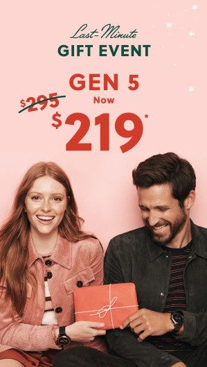 Gen 5 Now $219 from Fossil