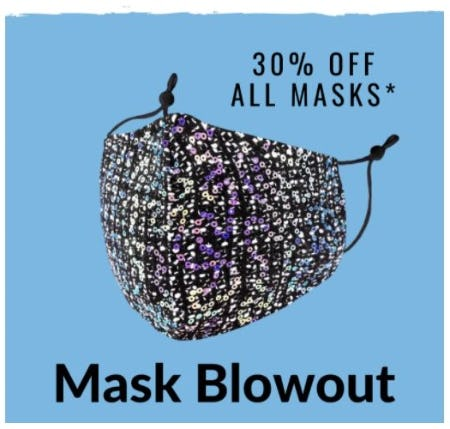 30% Off All Masks from Charming Charlie