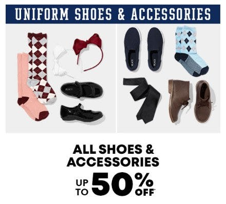 All Shoes & Accessories up to 50% Off from The Children's Place