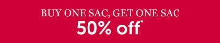 BOGO 50% Off Sacs