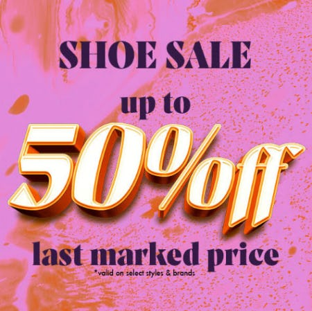 Up to 50% Off Shoe Sale