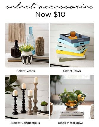 Select Accessories Now $10 from Kirkland's Home