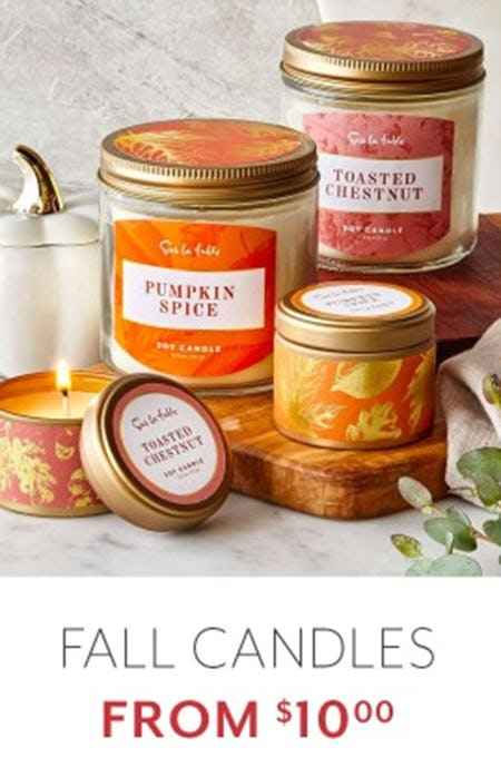Fall Candles From $10.00