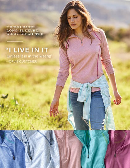 The Long-Sleeved Quarter-Zip Tee from Orvis