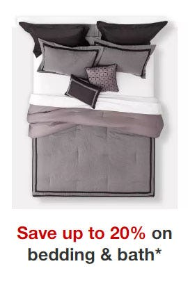 Up to 20% Off Bedding & Bath from Target