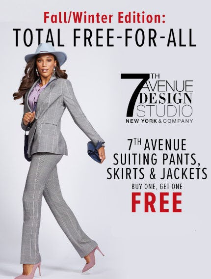 BOGO Free All Suiting from New York & Company