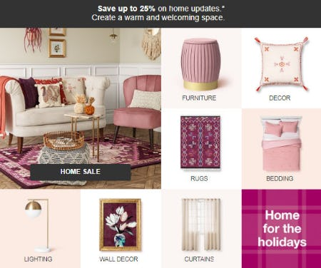 Up to 25% Off Home Sale from Target