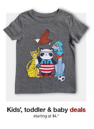 Kids', Toddler & Baby Deals Starting at $4
