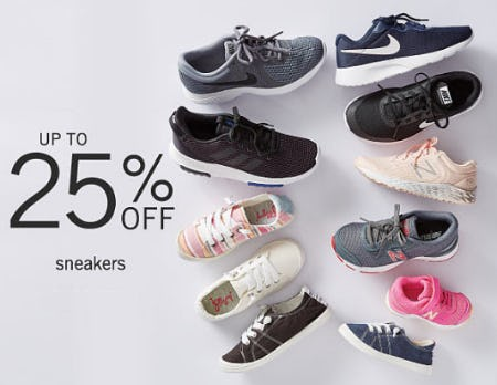 Up to 25% Off Sneakers