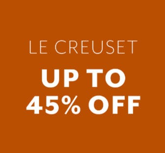 Up to 45% Off Le Creuset from Sur La Table