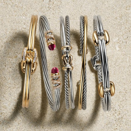 Iconic David Yurman Cable Bracelets from Fink's Jewelers
