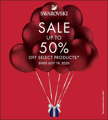 SALE UP TO 50% OFF SELECT PRODUCTS from Swarovski