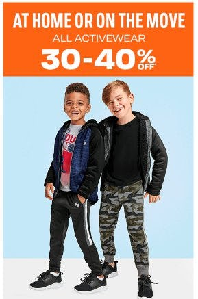 All Activewear 30-40% Off from The Children's Place Gymboree