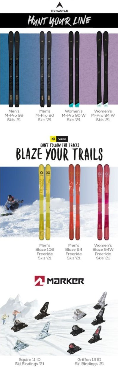 New 2021 Skis to Tear Up the Mountains