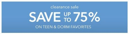 Clearance Sale up to 75% Off