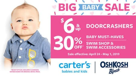 Big Baby Sale from Carter's Oshkosh