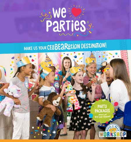 Make Build-A-Bear Workshop Your CeleBEARation Destination! from Build-A-Bear Workshop