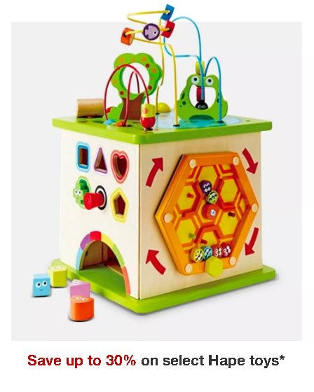 Save up to 30% on Select Hape Toys from Target