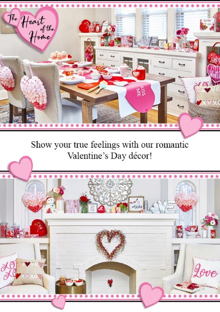 Valentine's Day Décor from Von Maur