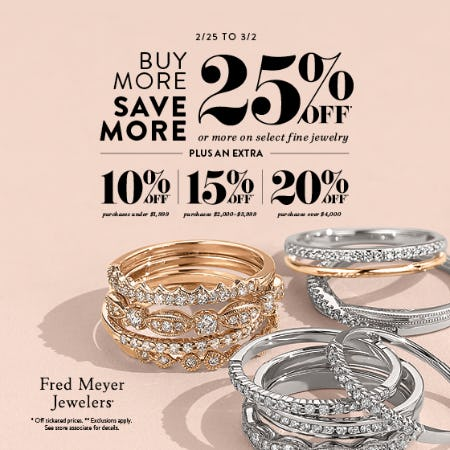 Buy More Save More Sale from Littman Jewelers