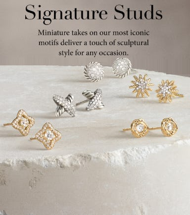 Signature Studs from David Yurman