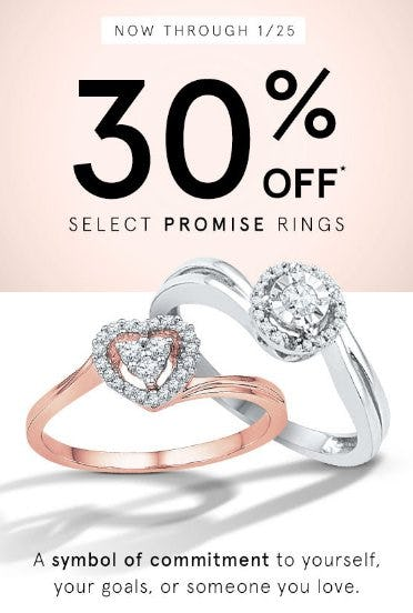 30% Off Select Promise Rings