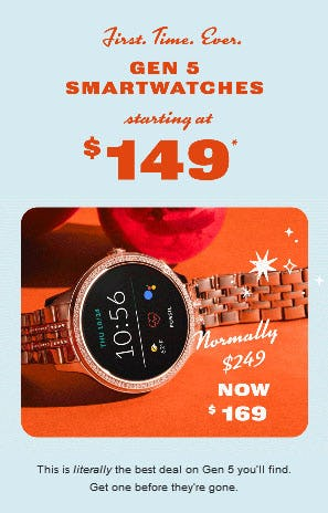 Gen 5 Smartwatches Starting at $149