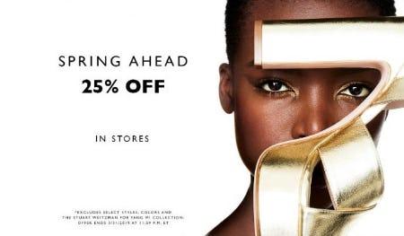 25% Off Sale from STUART WEITZMAN