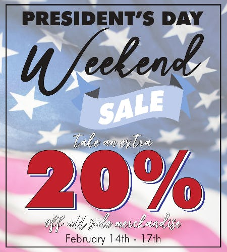 President's Day Weekend Sale from Tradehome Shoes