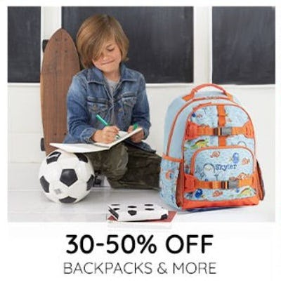 30–50% Off Backpacks and More from Pottery Barn Kids