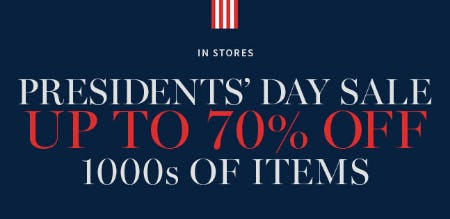 Up to 70% Off Presidents' Day Sale from Pottery Barn