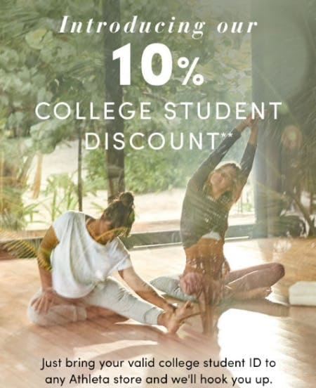 10% Off College Student Discount
