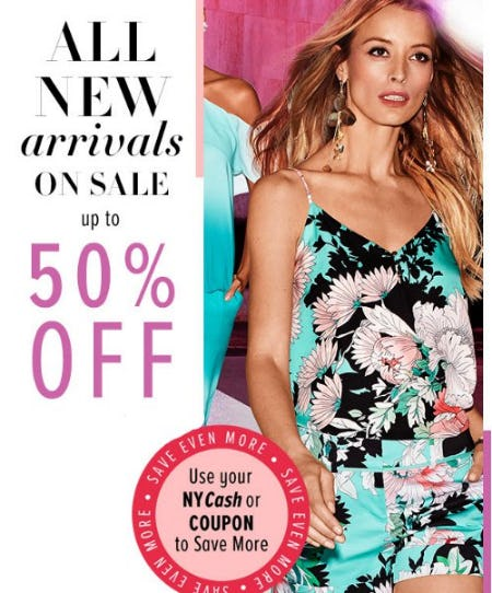 All New Arrivals on Sale up to 50% Off from New York & Company