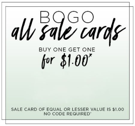 BOGO All Sale Cards from PAPYRUS