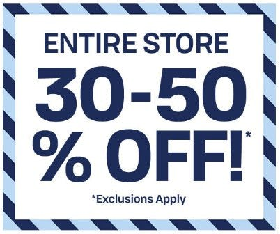 Entire Store 30-50% Off from The Children's Place