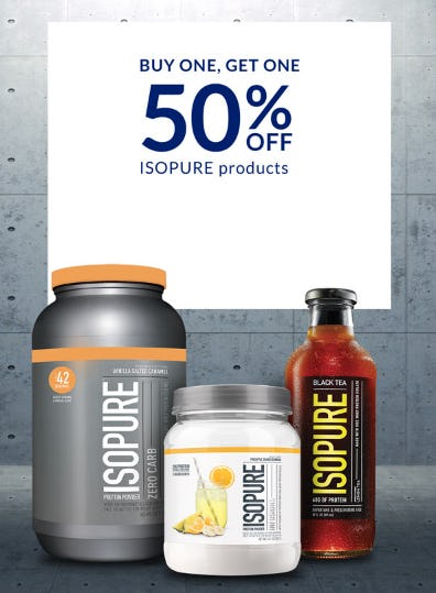 BOGO 50% Off Isopure Products from The Vitamin Shoppe
