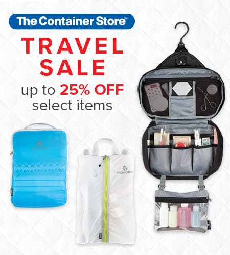 The Container Store Travel Sale