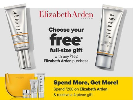 Free Gift with Any $162 Elizabeth Arden Purchase
