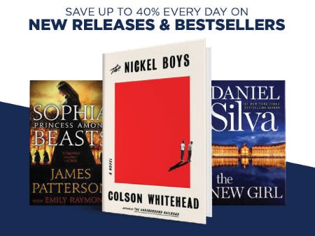 Up to 40% Off on New Releases & Bestsellers